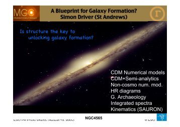 A Blueprint for Galaxy Formation? - GAMA
