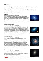 Galaxy Images - Institute of Physics