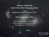 Galaxy Clustering (with the SDSS Imaging Data) - cosmo 06