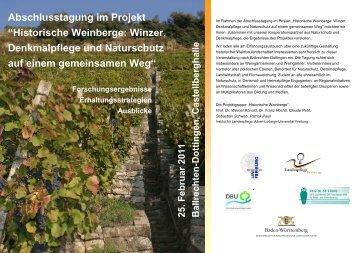 """Abschlusstagung im Projekt """"Historische Weinberge: Winzer ..."""