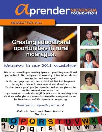 Creating educational oportunities in rural nicaragua.
