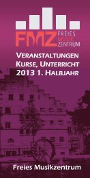 2013 1. HALBJAHR - FMZ Freies MusikZentrum Stuttgart