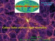 Galaxy halos at (very) high resolution - Max-Planck-Institut für ...