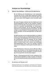 in Zeiten der Schuldenbremse - Landesrechnungshof Schleswig ...