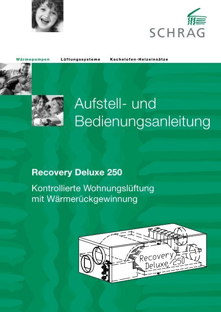 Filter Zuluft Schrag Recovery 250 Deluxe