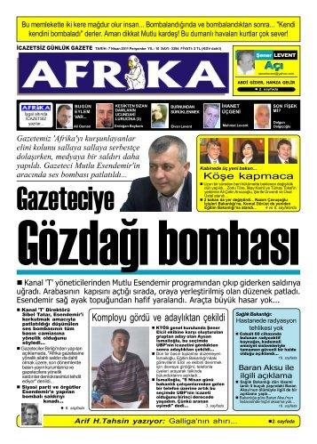 5 Temmuz 2009 - Afrika Gazetesi