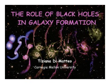 THE ROLE OF BLACK HOLES IN GALAXY FORMATION - SLAC