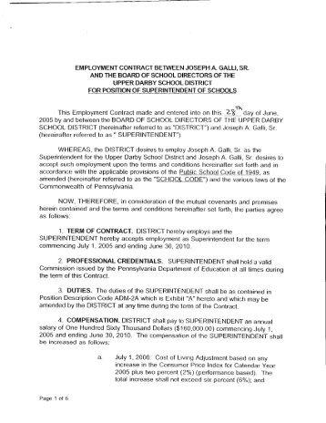 Employment Contract Between Greater Egg Harbor