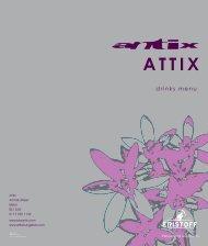 drinks menu - Antix