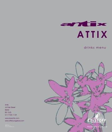 drinks menu - Antix