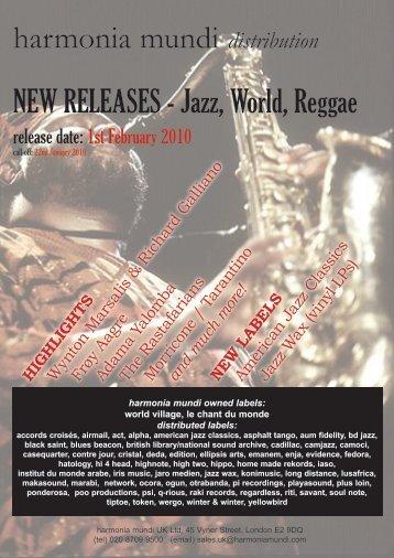 harmonia mundi distribution NEW RELEASES - Jazz, World, Reggae