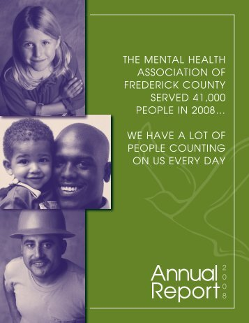 Fall 2007 Newsletter template.qxd - Frederick County Mental Health ...