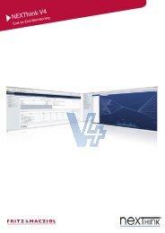 NEXThink V4: die richtige Information für ... - FRITZ & MACZIOL