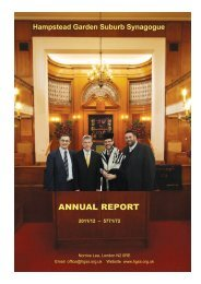 Annual Report 2012.indd - Hampstead Garden Suburb Synagogue
