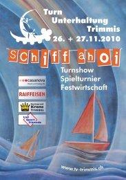 Info-Broschüre - Turnvereine Trimmis