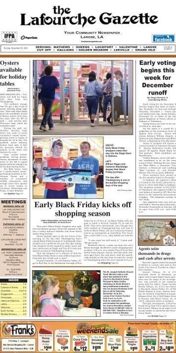 Sunday, November 25,2012 - The Lafourche Gazette