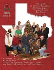 December 2010 - Tarrant County Bar Association