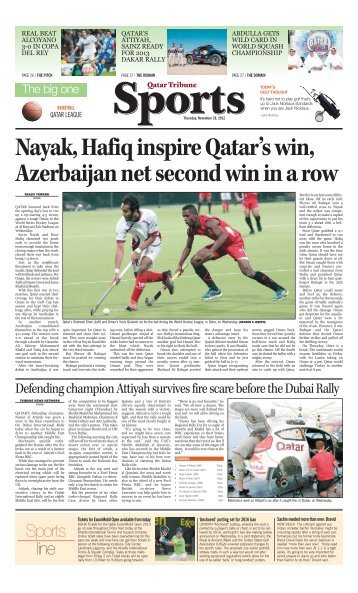Sports line - Qatar Tribune