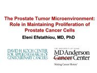 The Prostate Tumor Microenvironment - Educational Concepts Group