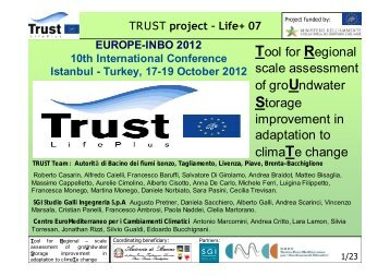 TRUST project – Life+ 07 - INBO