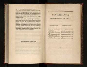 Concordantia Bibliothecae Latinae cum Gallica - cdigital
