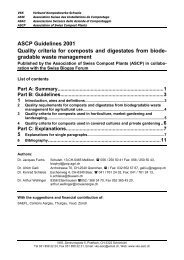 ASCP Guidelines 2001 Quality criteria for composts and digestates ...