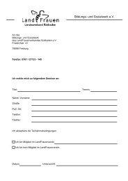 Teilnahmebedingungen für Seminare des Bildungs