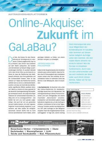 Online-Akquise: Zukunft im GaLaBau? - blätterwerk redaktionsbüro ...