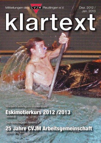 Klartext Januar als PDF zum Herunterladen - CVJM Reutlingen eV