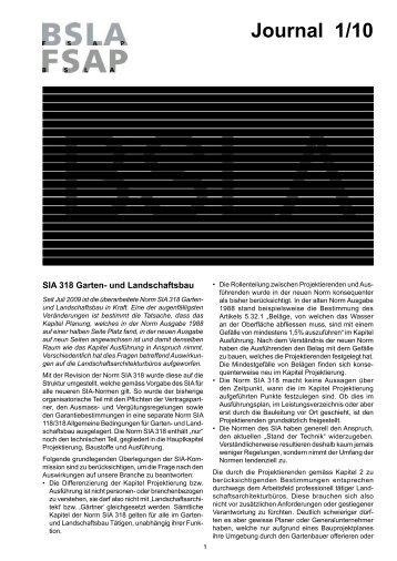 Journal 1/10 - BSLA