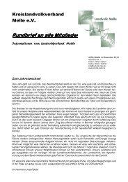 Rundbrief vom Dezember 2012 - Landvolk Niedersachsen