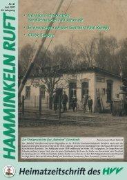 Hamminkeln Ruft, Ausgabe Nr. 47 - Juni 2007 - HVV Hamminkeln