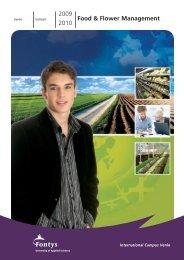 2009 2010 Food & Flower Management - Studieren in Holland