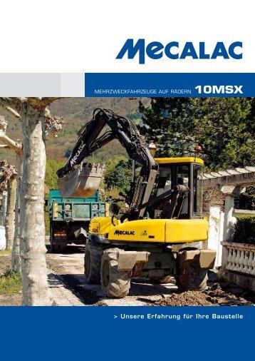 Prospekt 10MSX - Mecalac