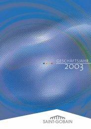 geschäftsjahr 2003 - Saint-Gobain