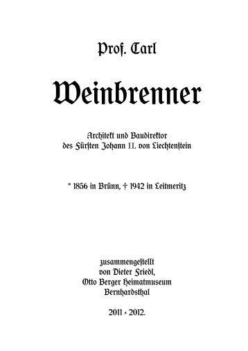 Weinbrenner Lebenslauf - Friedl Dieter