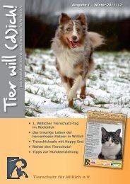 Ausgabe 1 (5,7 MB) - Tierschutz Willich eV