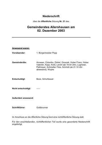 Landratsamt Freising – Bauleitplanung - Gemeinde Allershausen