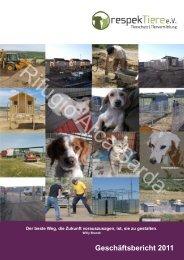 Geschäftsbericht 2011 Langfassung - RespekTiere