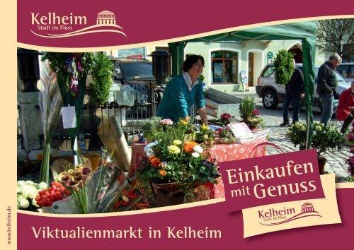 Flyer Viktualienmarkt mit allen Marktbeschickern - Kelheim
