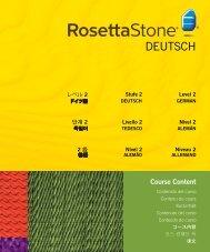 DEUTSCH - Rosetta Stone