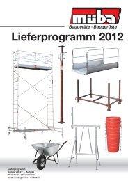 Lieferprogramm 2012
