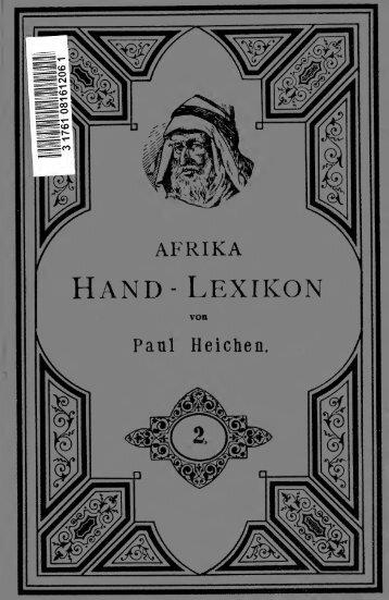 Afrika Hand Lexikon; ein Nachschlagebuch für Jedermann