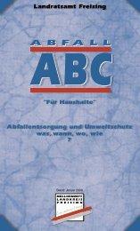 Abfall A-B-C für Haushalte - Stadt Freising