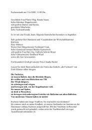 Fuchsientaufe am 13.6.2009, 11.00 Uhr - Gartenbau Pichler Koban