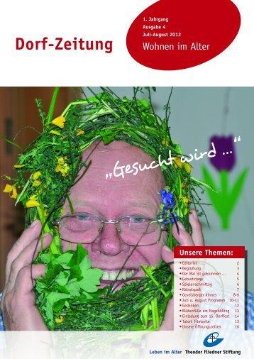 Dorf-Zeitung Juli/August 2012 - Theodor Fliedner Stiftung