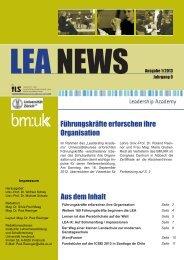 LEA NEWS Ausgabe 1/2013 - Leadership Academy
