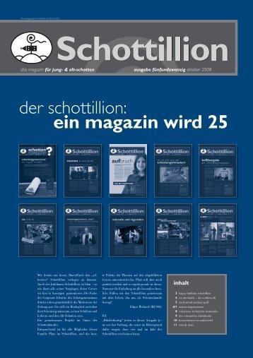 der schottillion: ein magazin wird 25 - Alt-Schotten