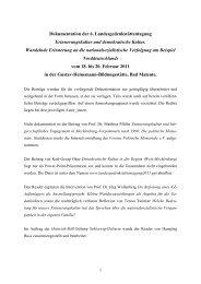 Dokumentation der 6 - Heinrich-Böll-Stiftung Schleswig-Holstein
