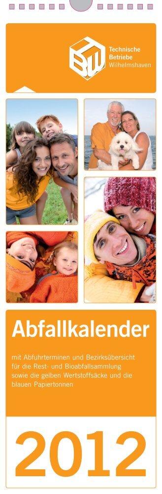 Abfallkalender - Technische Betriebe Wilhelmshaven